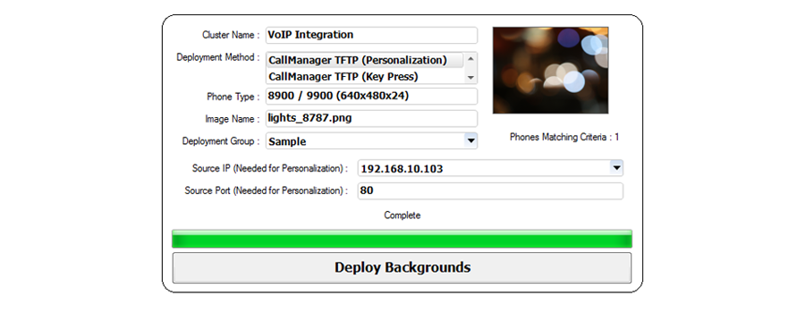 Deploy Background Images to Cisco UC Phone Handsets Remotely