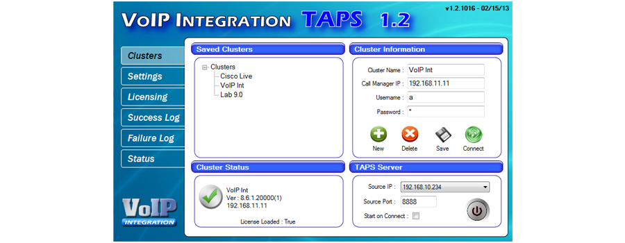 VoIP Integration - TAPS - The LCD Screen Based TAPS Solution